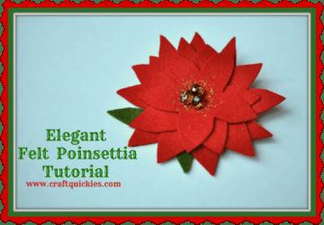 Elegant Felt Poinsettia Tutorial