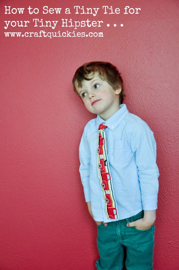 Skinny Tie Tutorial for Tiny Hipsters