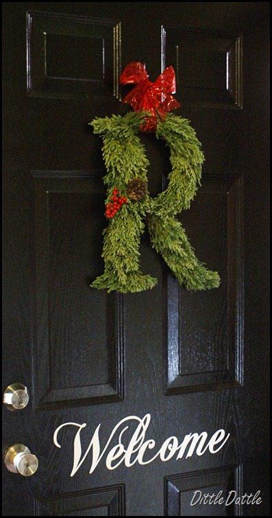WFresh Cedar Letter Wreath