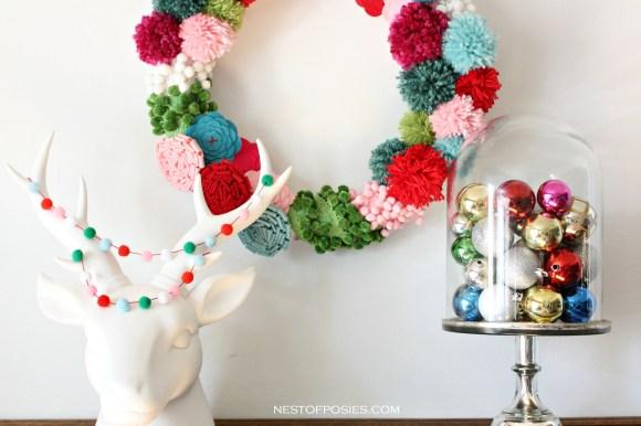 WPom-Pom-Wreath