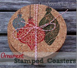 stamped coasters