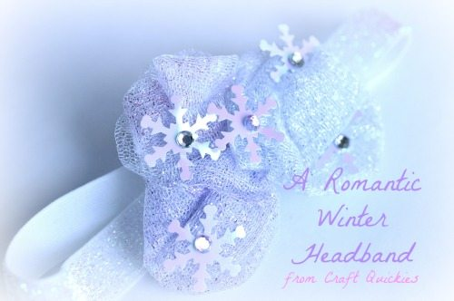 I love this Romantic Winter Headband tutorial!  Perfect for a little winter princess!