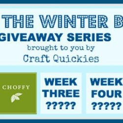 Beat the Winter Blues! Giveaway Series Week 2: Choffy