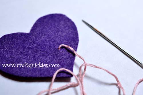 Romantic Stitched Wool Felt Headband3