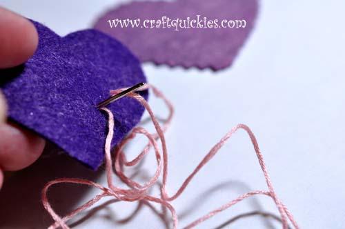 Romantic Stitched Wool Felt Headband4