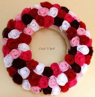 Valentine's Day Rose Wreath