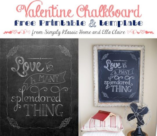 chalkboard valentine from sk