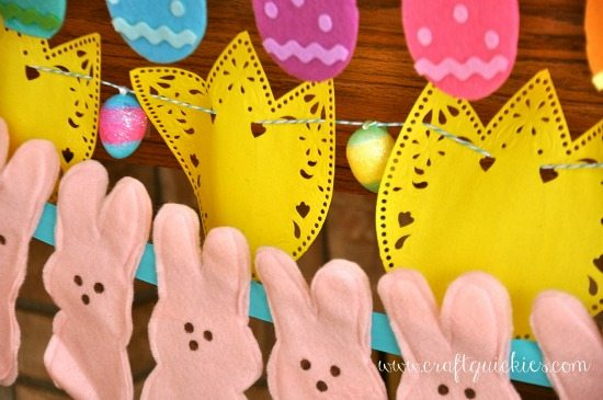 Easter Mantel and Banner Tutorial from Craft Quickies
