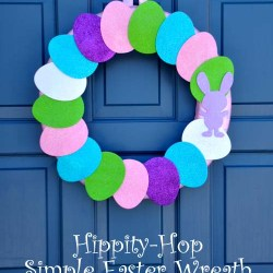 Hippity Hop Simple Easter Wreath