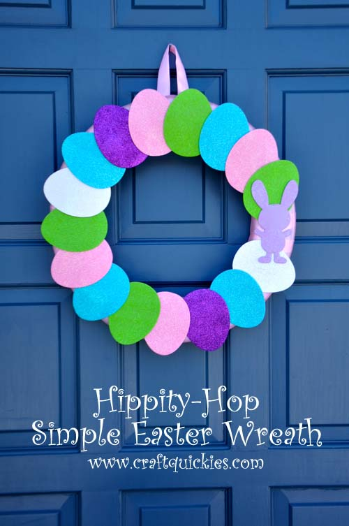 Make a simple Easter wreath using this simple tutorial. The foam shapes are simple to use for creating and weather durable!