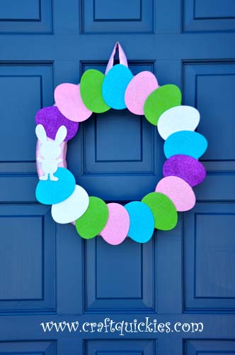 Hippity Hop Simple Easter Wreaths from Craft Quickies 7