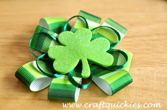 Lucky Charm Hair Bow from Craft Quickies 5