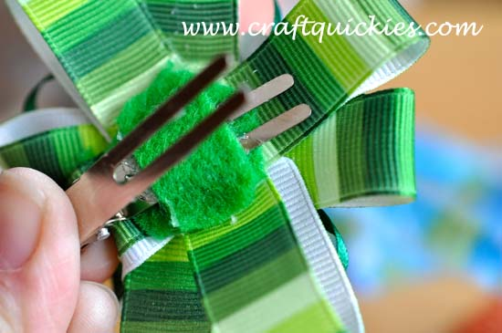 Lucky Charm Hair Bow from Craft Quickies 9
