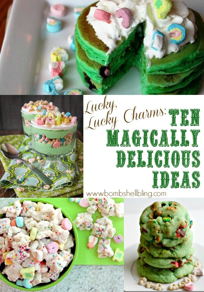 Ten magically delicious Lucky Charms recipes and ideas for St. Patrick's Day. Make your holiday a little bit more whimsical and festive!