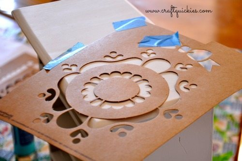 Painting a Sweet Miniature Dresser with Handmade Charlotte Stencils from Craft Quickies 2