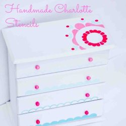 Painting a Sweet Miniature Dresser with Handmade Charlotte Stencils