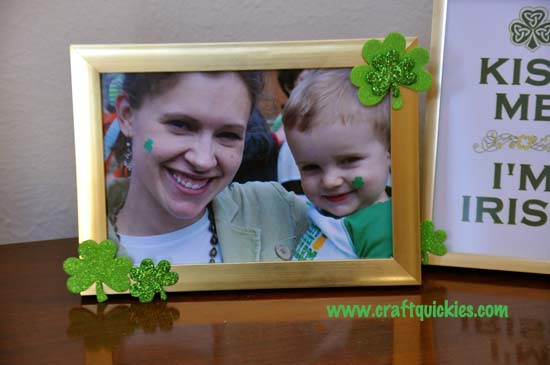 Quick & Easy St. Patrick's Day Frames from Craft Quickies 4