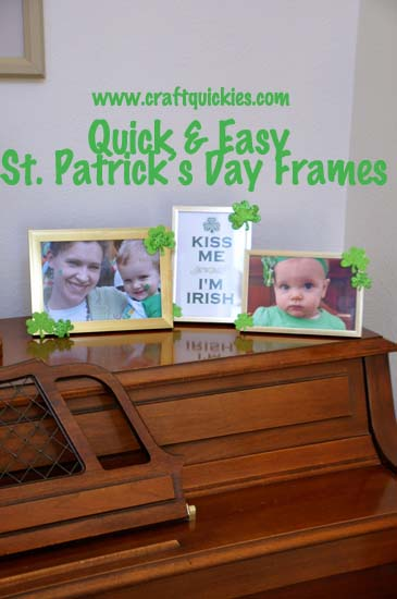 Quick & Easy St. Patrick's Day Frames from Craft Quickies