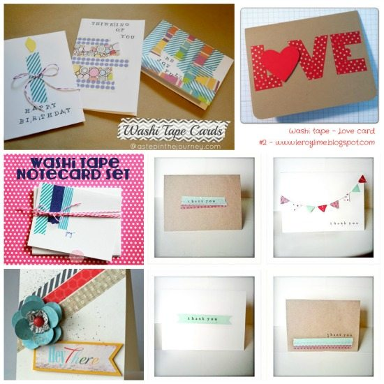 Love Washi tape? Get more than 30 great ideas for using the beloved tape. These ideas are unique and simple for crafting and more!