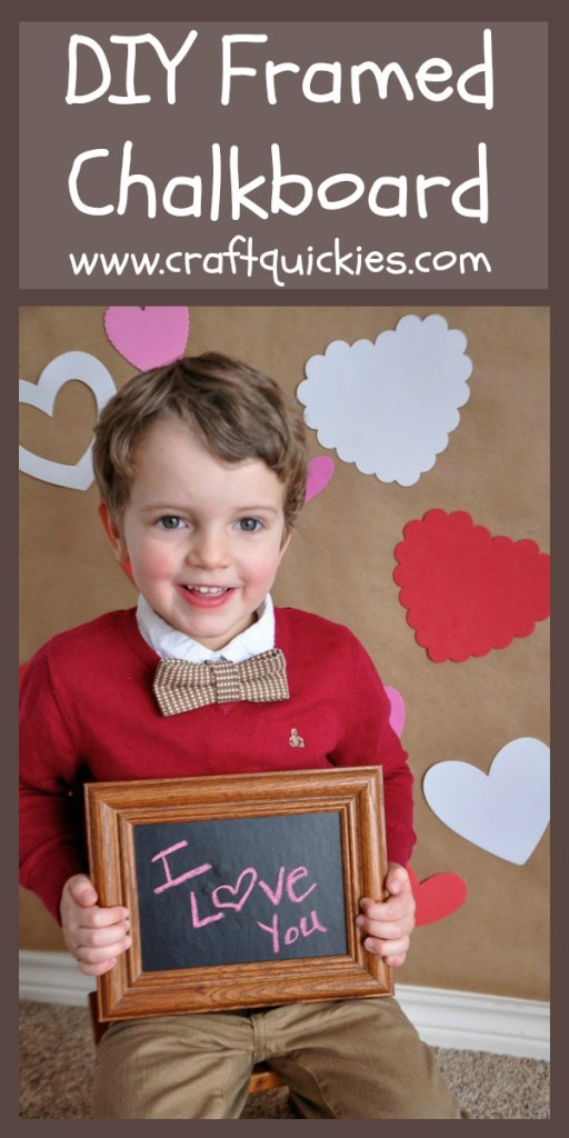 Turn ANY frame into a chalkboard in less than 5 minutes! What a great photo prop!