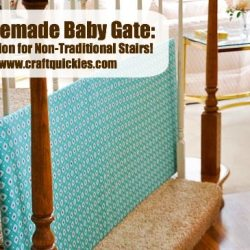 DIY Baby Gate for Non-Traditional Stairs
