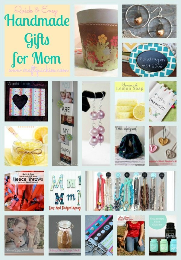 Handmade Gifts: 19 Quick & Easy Gifts Mom Will Love