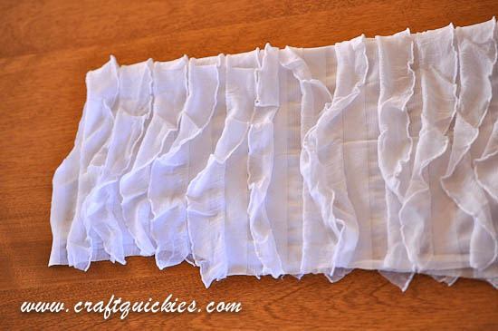 Use ruffle fabric to make a cute tunic for your little gal in less than 30 minutes!