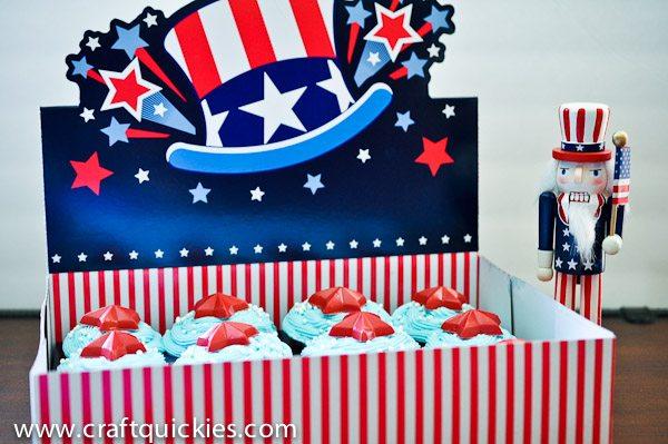 Patriotic Cupcakes-6