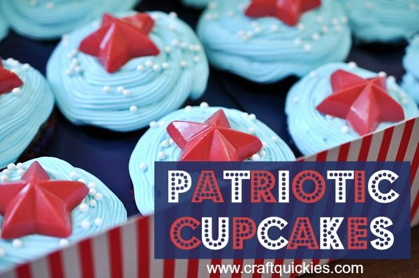 Love these darling but simple patriotic cupcakes!
