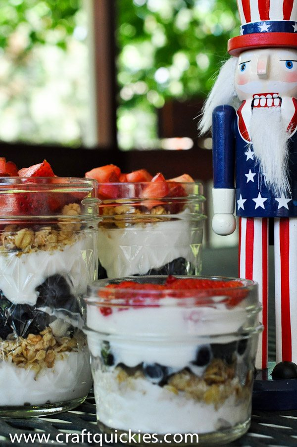 Individual Patriotic Parfaits are the perfect thing for a 4th of July brunch!