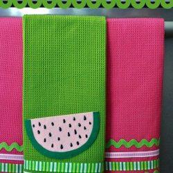 No-Sew Watermelon Towels