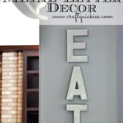 Anthro Knockoff Metal Letter Decor