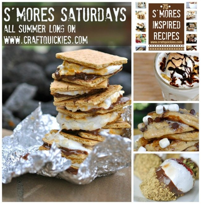 S'mores Saturdays - A new s'mores inspired recipe all summer long on Craft Quickies!