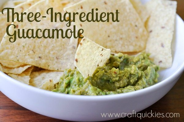 Three ingredient guacamole!  Shockingly easy, but still incredibly tasty!!