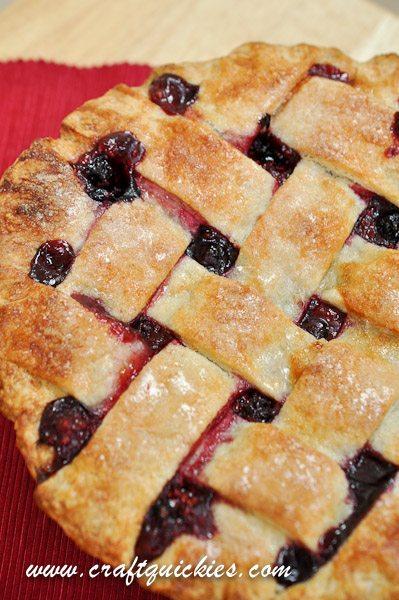 razzleberry pie close up