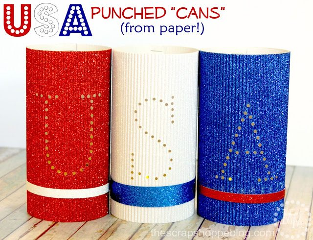 craft off faux-punched-patriotic-cans