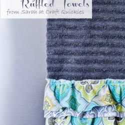 Bite-Sized Sewing: Shabby Chic Ruffled Towels