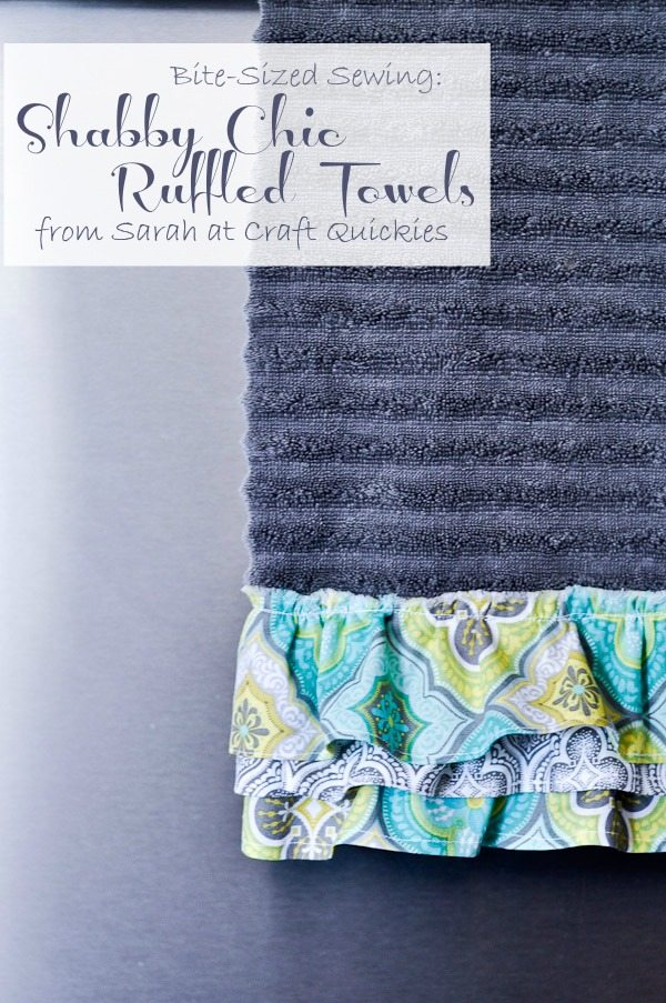 Ruffled shabby chic towels are a simple way to personalize your home!