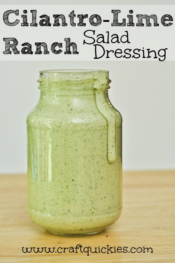 This creamy cilantro lime ranch salad dressing recipe comes together in a flash! It is a copycat recipe for the amazing cilantro lime dressing at Cafe Rio and works great as a marinade too.