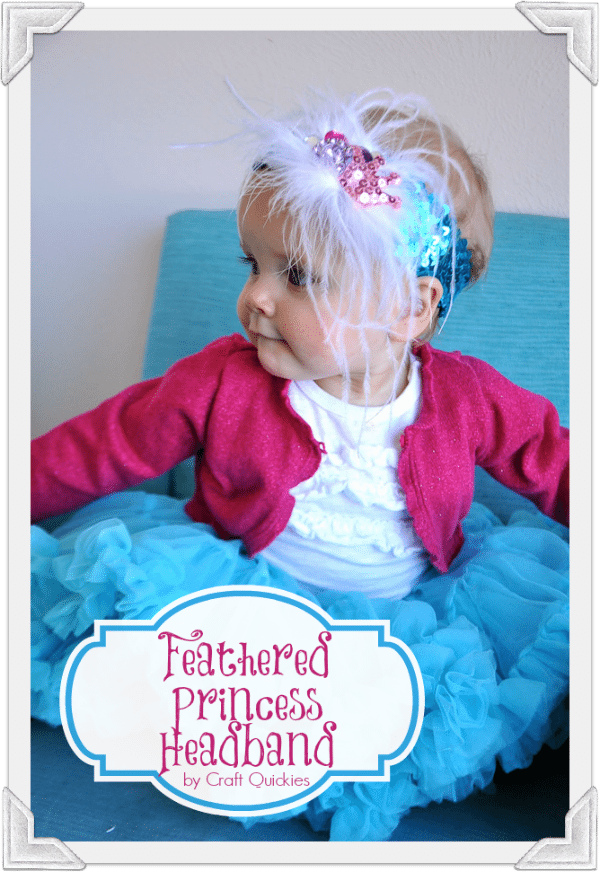 This darling feathered princess headband tutorial is the simplest and cutest headband you will ever make for your little princess!