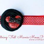 Baby Minnie Mouse Headband Tutorial