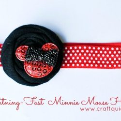 Baby Minnie Mouse Headband Tutorial