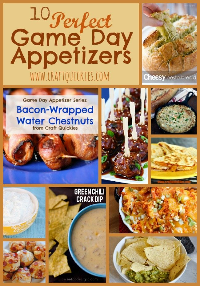 Ten Perfect Appetizers for Game Day Parties!  #football #appetizers