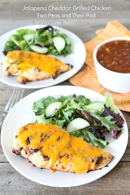 grilling Jalapeno-Cheddar-Grilled-Chicken on plate