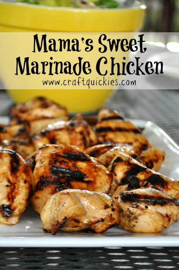 grilling Marinade Chicken on plate