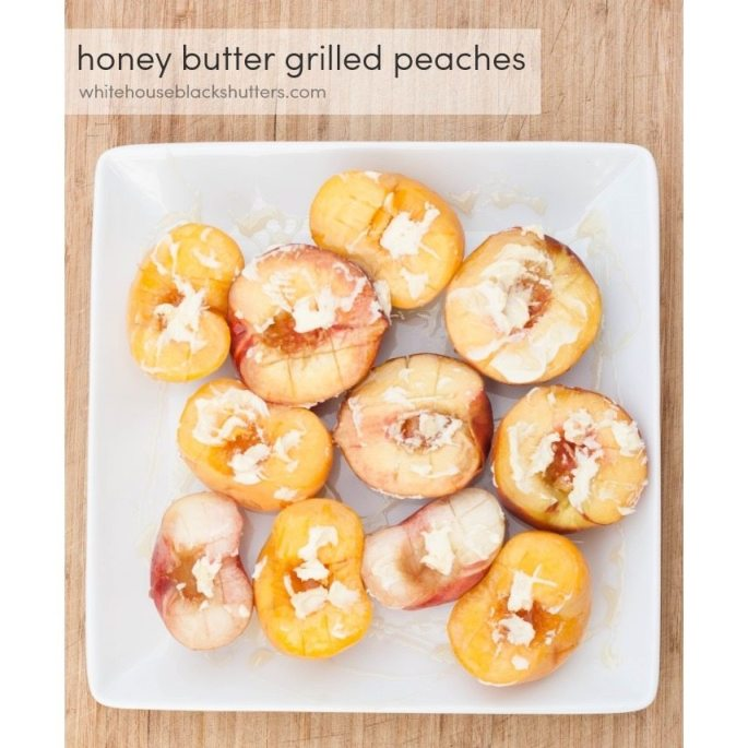 honey butter grilled peaches