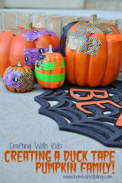 Creating a Duck Tape Pumpkin Family