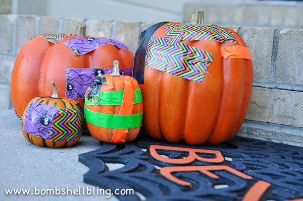Duck Tape Pumpkins-14