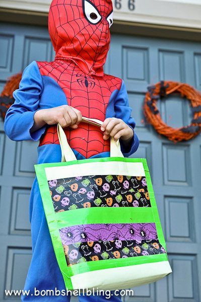 Duck Tape Trick or Treat Bag-19