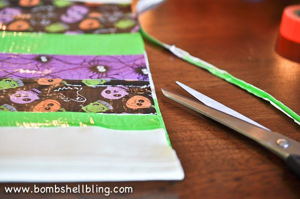 Duck Tape Trick or Treat Bag-8